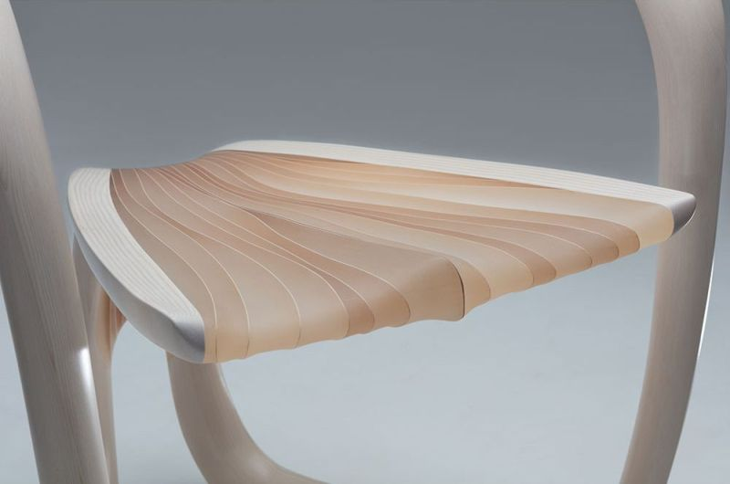 Marc Fish Makes Ethereal Chair Using Wood and Resin