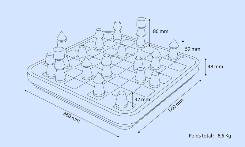 Pierre-Marie Bagot's Failure Concrete Chess Set is Ideal for Brutalism Fans