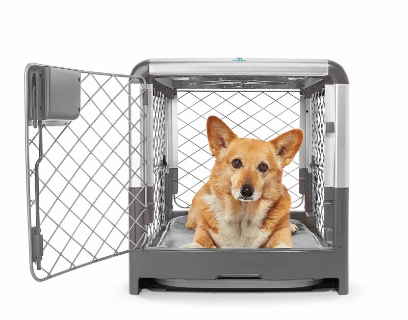 Revol Dog Crate Folds Flat for Easy Storage and Transportation