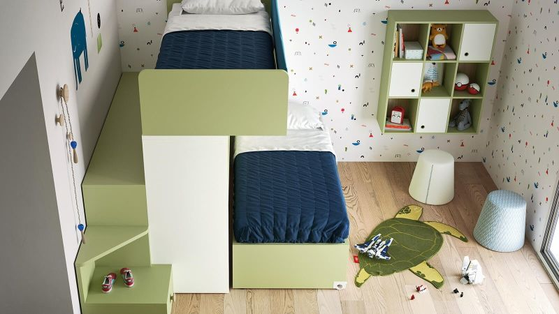 Skid Bunk Bed by Nidi is Perfect for a Shared Kids' Room