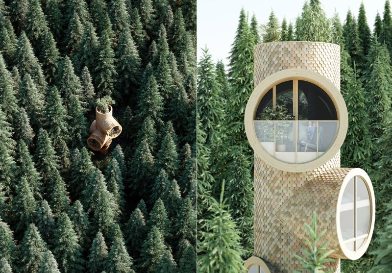 Studio Precht Designs Bert Modular Treehouse for Baumbau