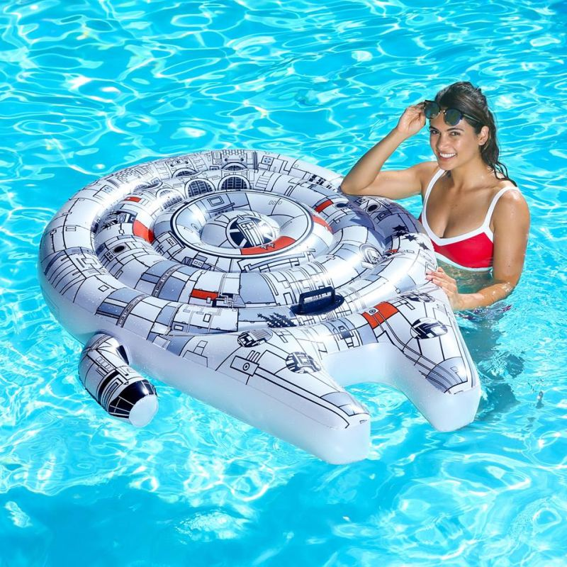 SwimWays Millennium Falcon Pool Float is a Cool Gift for ...