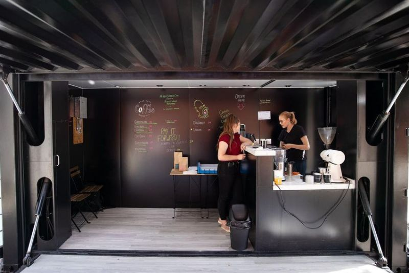 YEG Coffee Can in Edmonton is a Repurposed Shipping Container
