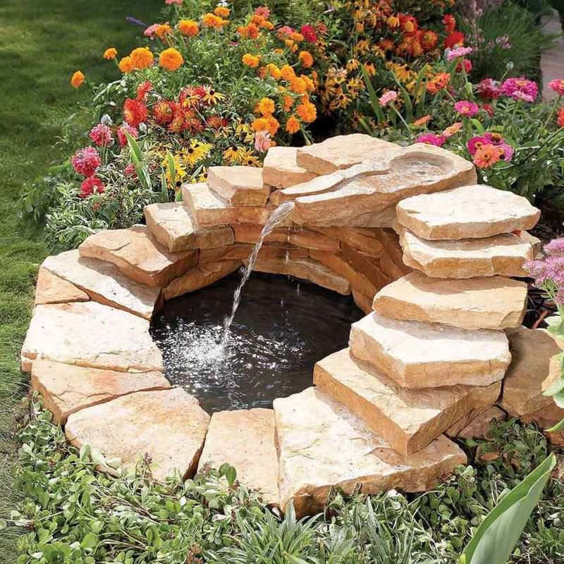 Water fountain ideas for small garden
