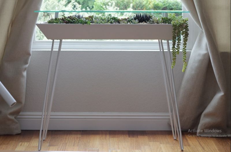 BloomingTables: A Beautiful Table with Built-In Succulent Planter
