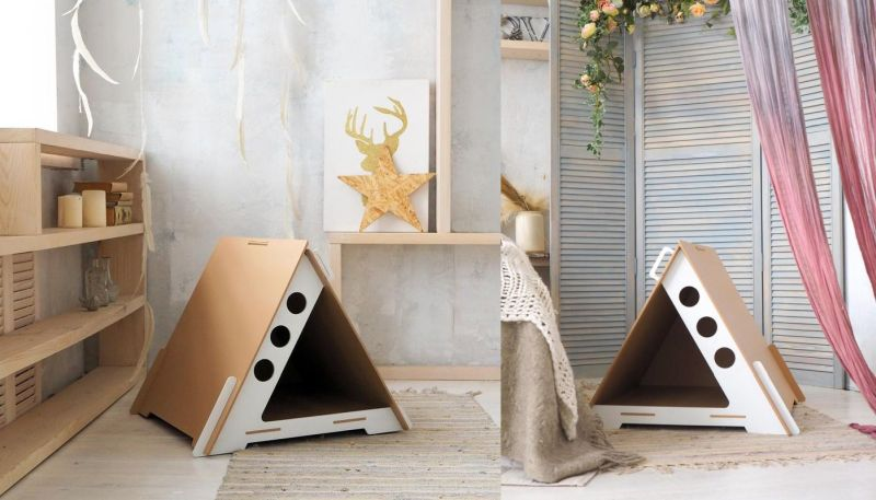 Stylish Geometric Modern Cat Houses from Grando