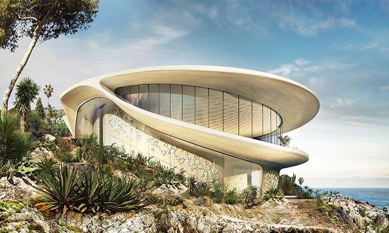 David Tajchman Conceives Futuristic Oceanside Pool House