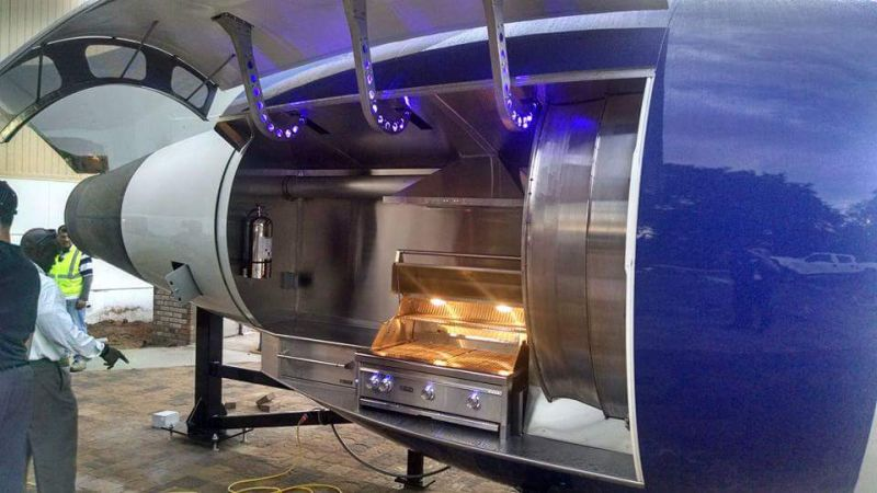 Delta's TechOps Transforms Boeing 757 Engine into Outdoor Grill