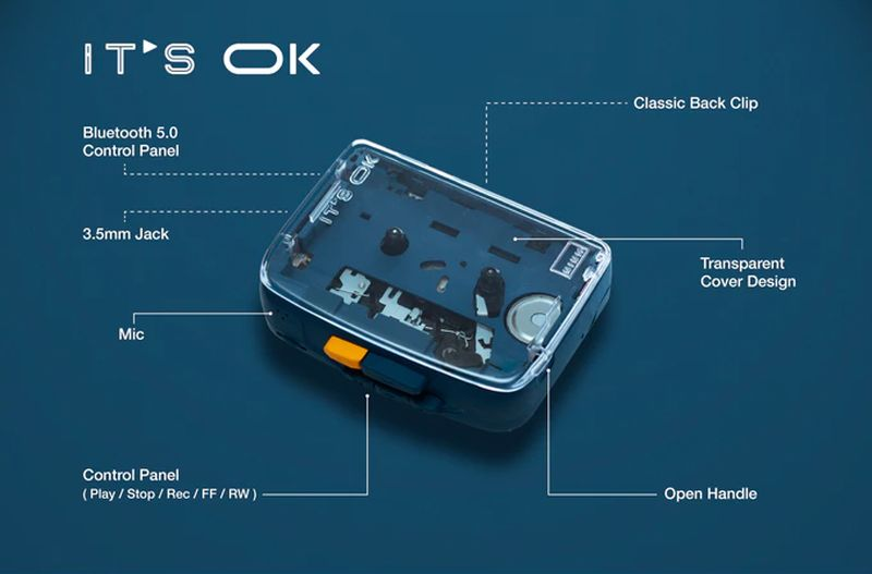 NINM Lab Launches IT'S OK Bluetooth 5.0 Cassette Player on Kickstarter