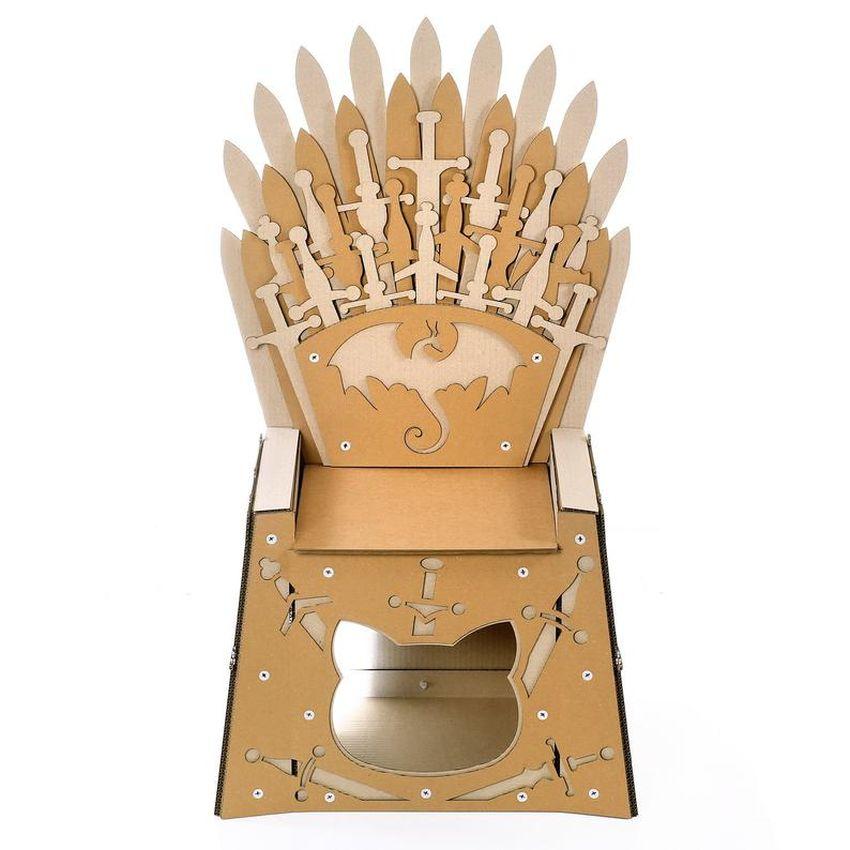 Iron Throne Cardboard Cat House