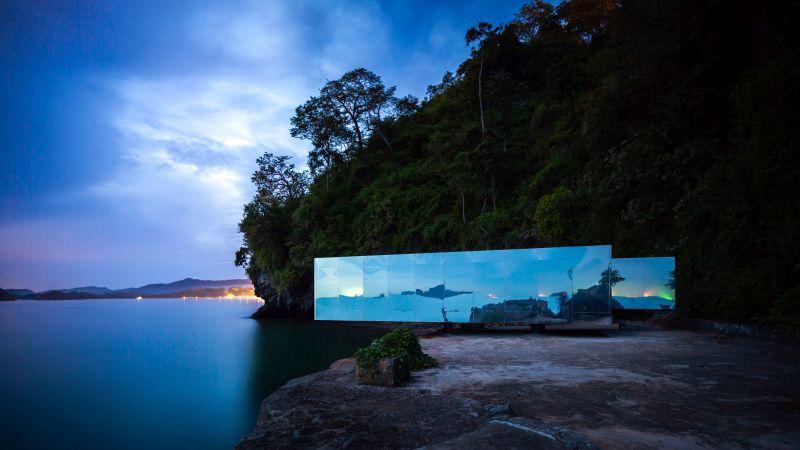 No Sunrise No Sunset Pavilion by Kamin Lertchaiprasert and Walllasia