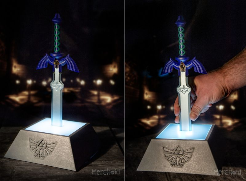 Seal the Darkness with Zelda's Master Sword Table Lamp