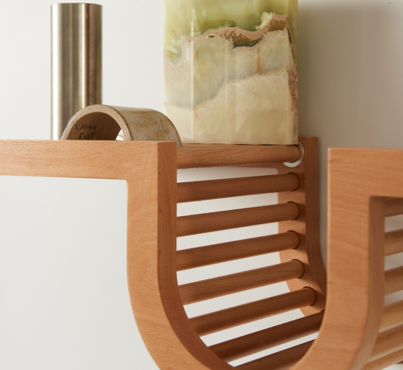 TORTUGA Living Wave Shelf by Oliver Haslegrave