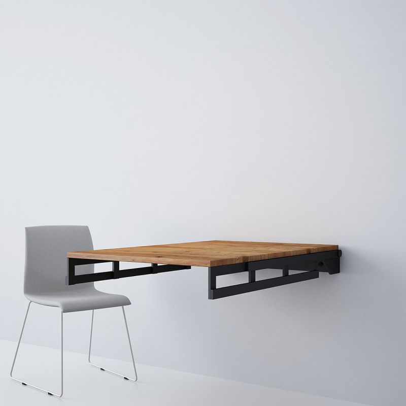 This Transforming Dining Table Becomes a Shelf in a Jiffy