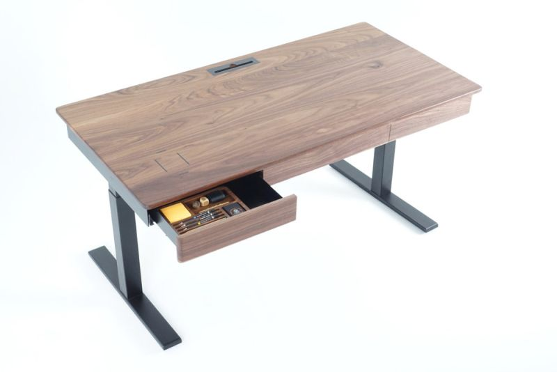 Woolsey Standing Desk with Three Drawers and Wireless Charging