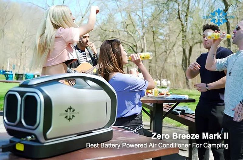 Zero Breeze Mark II Battery-Powered Portable Air Conditioner for Campers