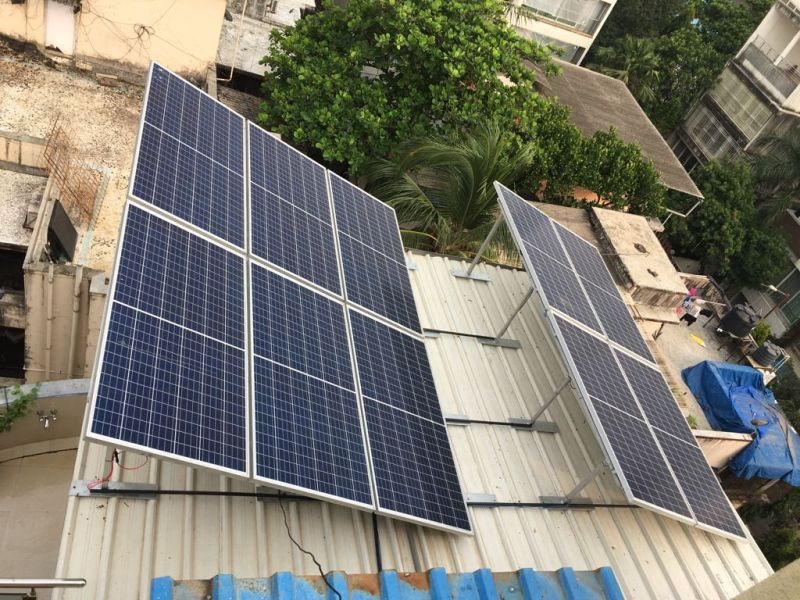 Solar panels running Lewis household