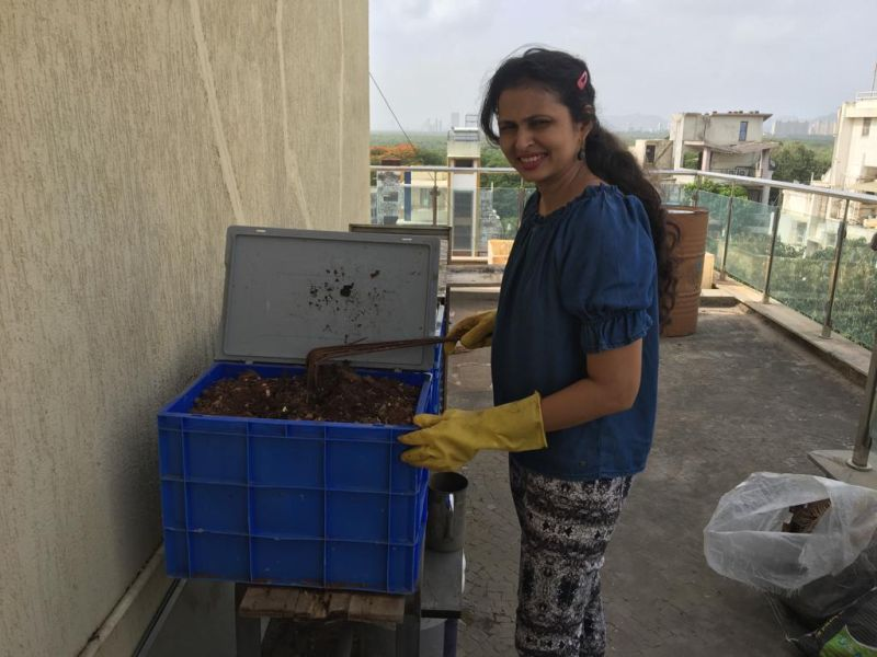 Dr. Reema doing vermiculture