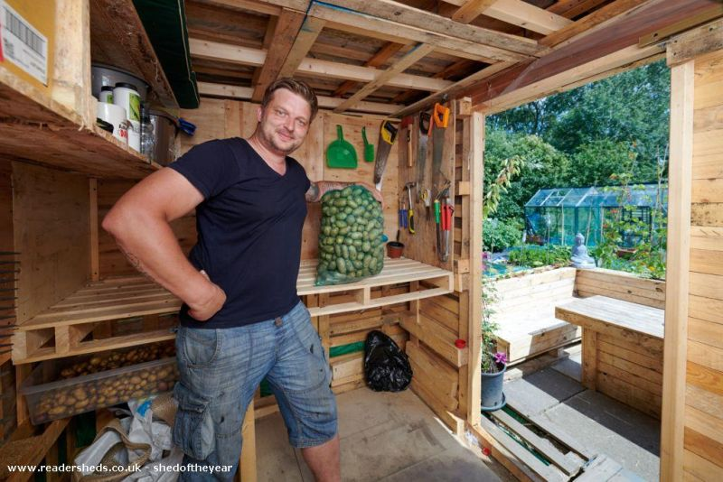 Allotment Recycled Pallet Eco Shed by Andrius Simaska - Shed of the Year competition
