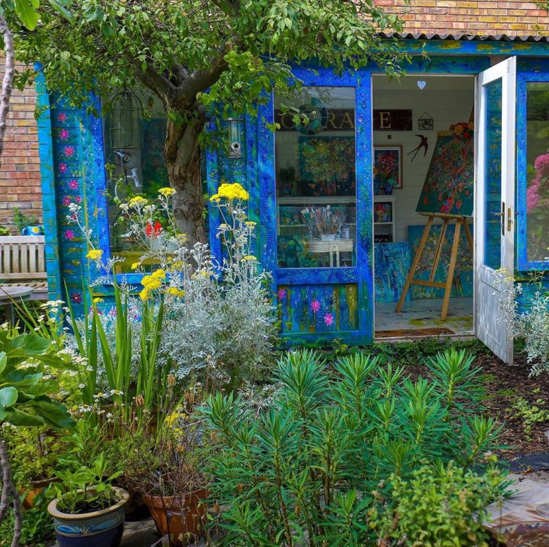 tiny garden shed by Mary Price