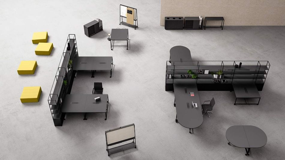 Gensler Teams Up with Fantoni to Design Atelier Modular Office Furniture Collection