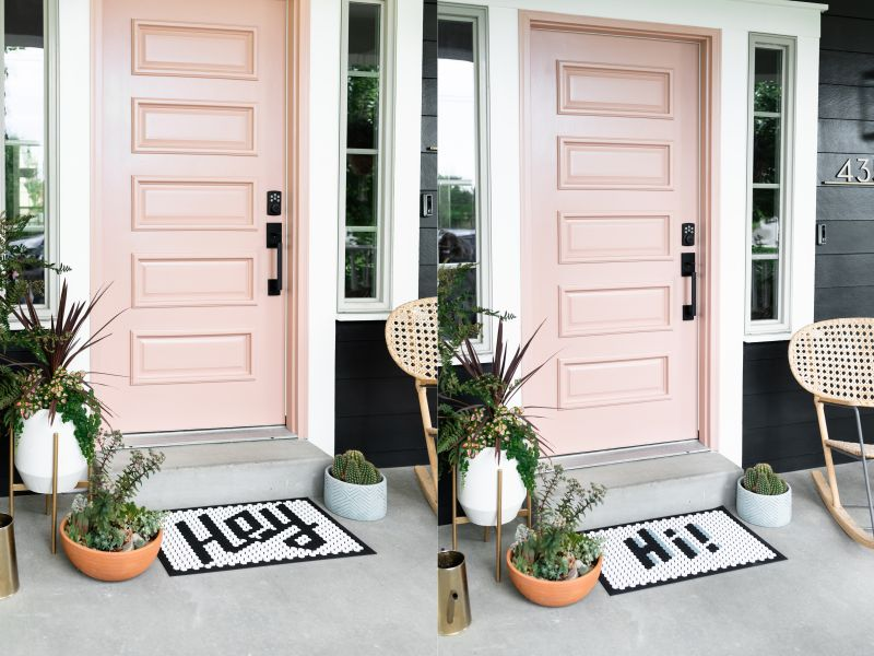 Letterfolk Designs Tile Mat Customizable Doormat for Homes
