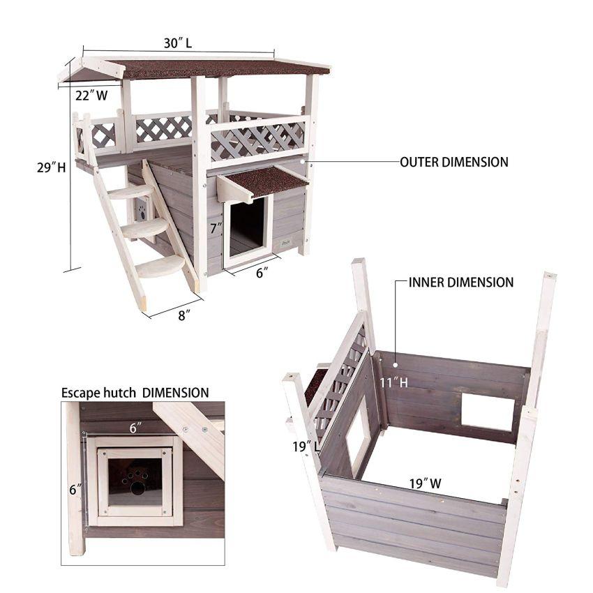 Petsfit Weatherproof Cat House