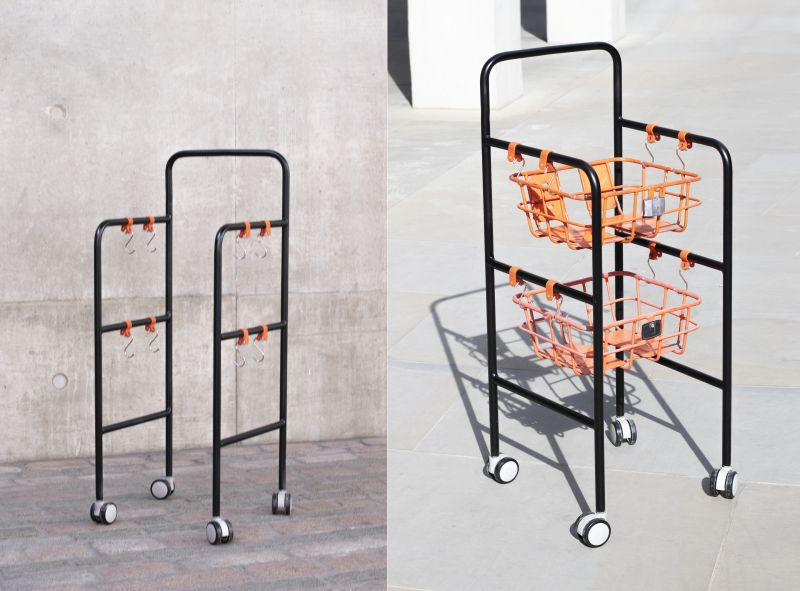 Qiang Huang Upcycles Broken Bikes into Functional Household Items
