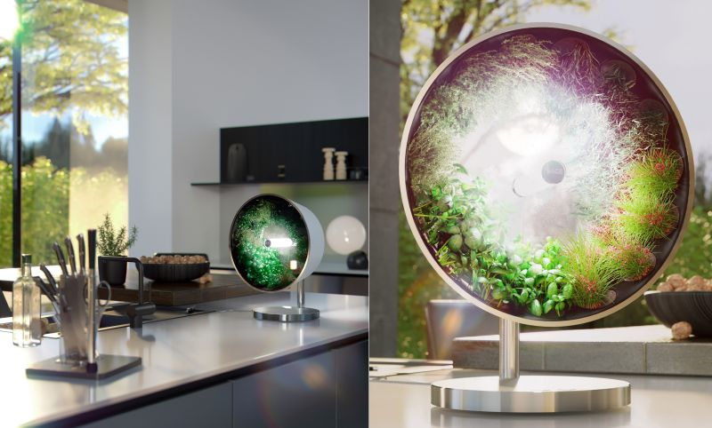 Rotofarm Countertop Hydroponic Garden Rotates to Speed Up Growth of Plants