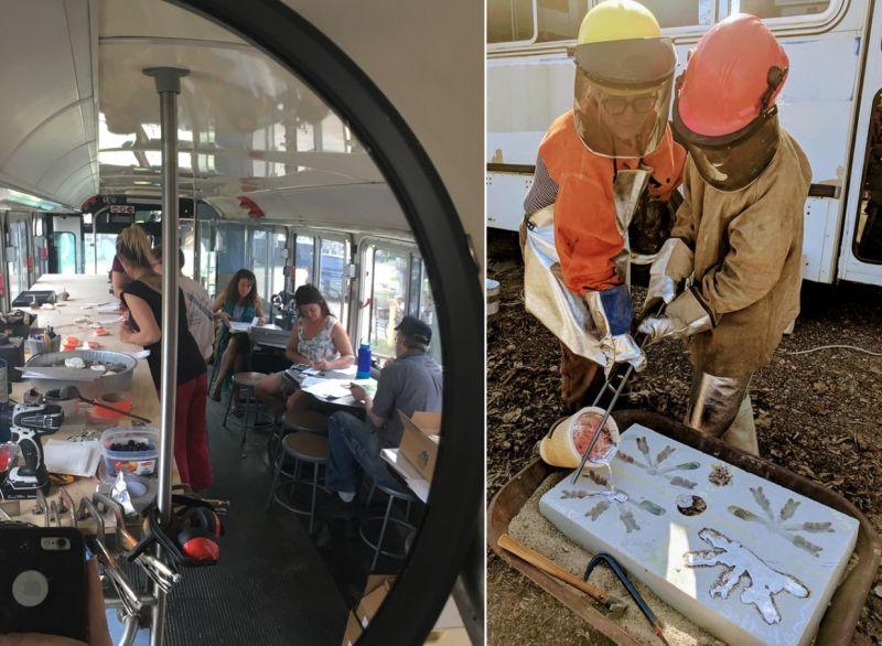 Sara Hanson Converting Retired City Bus Into Her Workshop on Wheels