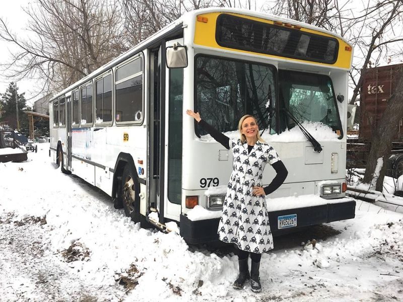 Sara Hanson Converting Retired City Bus Into Her Workshop on Wheels