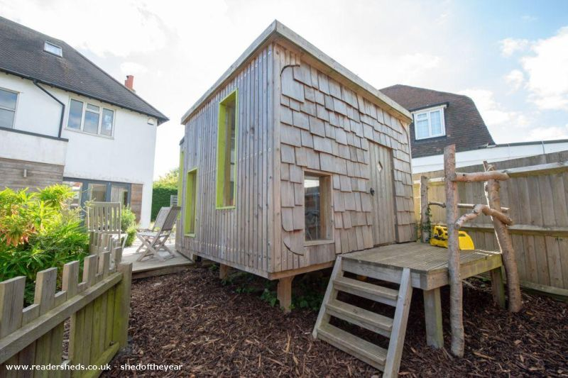 Shed Of Two Halves by Andrew Mowl -Shed of the Year competition