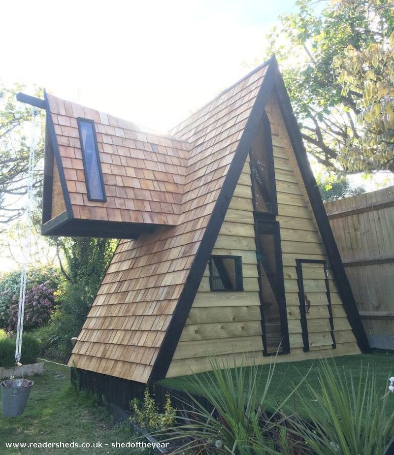 Woody Willow A-frame shed by Tom Prior - Shed of the Year competition