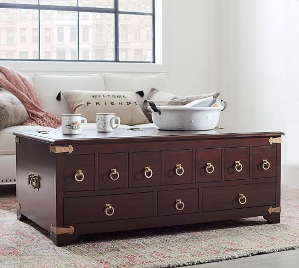 Pottery Barn brings back the Apothecary Table from Friends