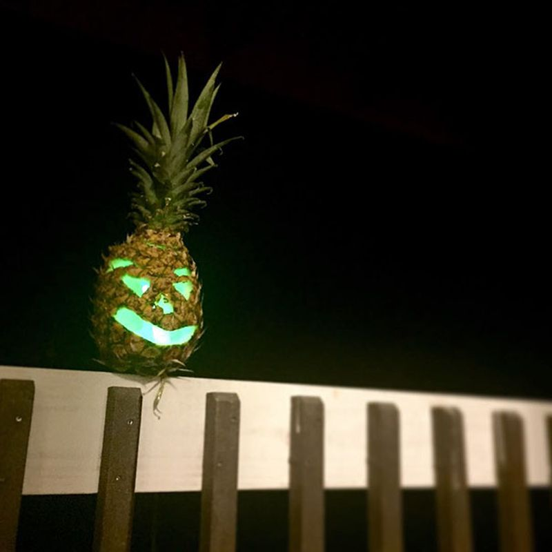 Swap Pumpkin Jack-o-lantern with Pineapples for This Year's Halloween