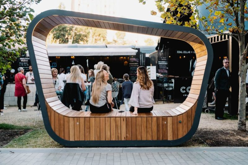 Sedi solar powered smart furniture with off-grid connection
