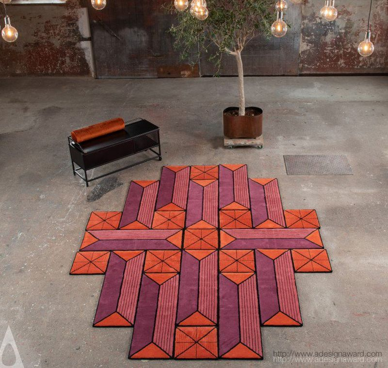Astron Shape Shifting Rug Can be Arranged in Various Forms