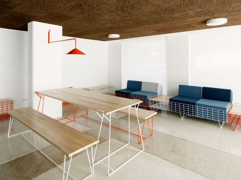 Cenlitrosmetrocadrado's Custom Furniture for Common Areas of 13Rosas Building