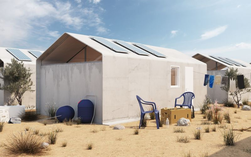 Cortex Shelter Could be Built from Concrete Fabric in a Day
