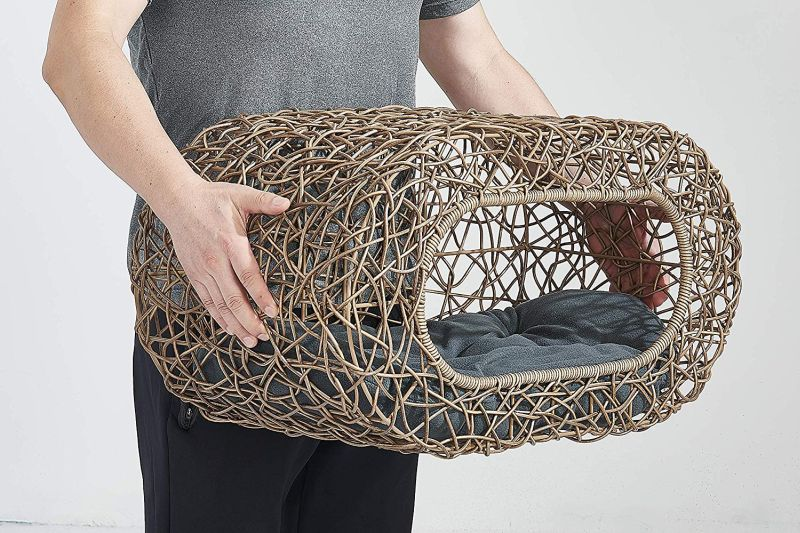 D+ Garden's Wicker Cat House is All About Comfort and Class