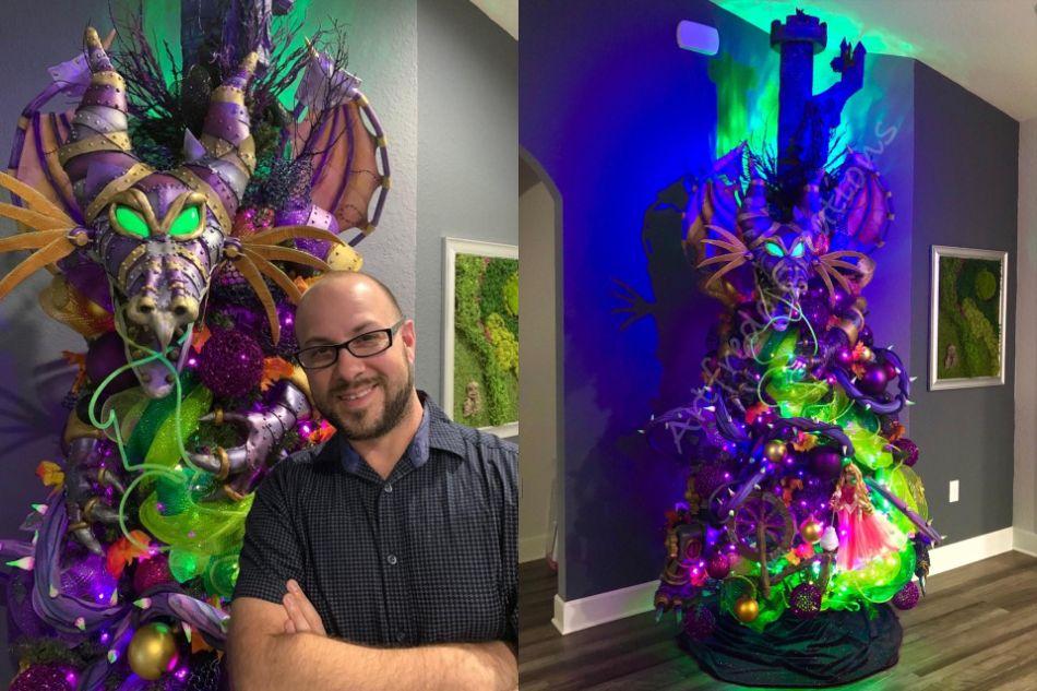 Disney Inspired Maleficent Halloween Tree by Alfredo Majuri Vargas