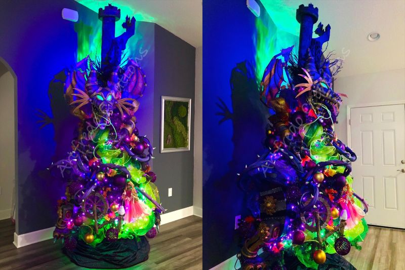 Disney Inspired Maleficent Halloween Tree by Alfredo Majuri Vargas