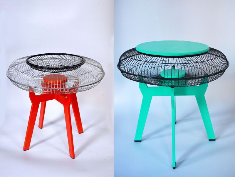 Fan guards Get New Life as Multi-functional Veta Side Tables