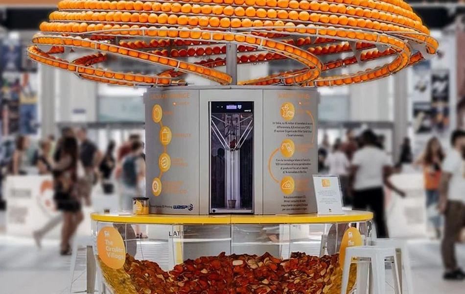 Feel the peel: Innovative Juice Machine Turns Peels into Bioplastic Cups