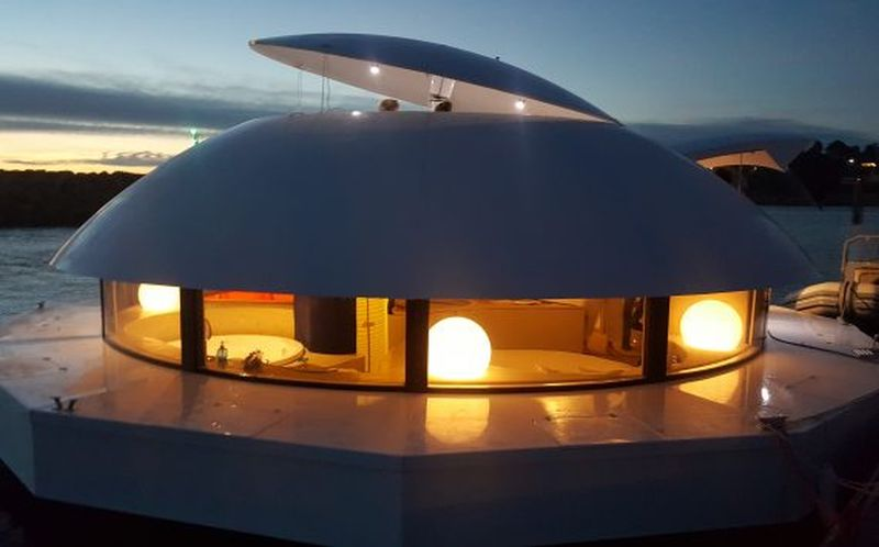 Inspired by 'The Spy Who Loved Me' Anthenea is Eco-luxe Floating Pod