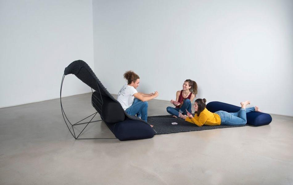 Isiqu Hybrid Sofa by Lila Demarcq Lets You Sit, Sleep, Work