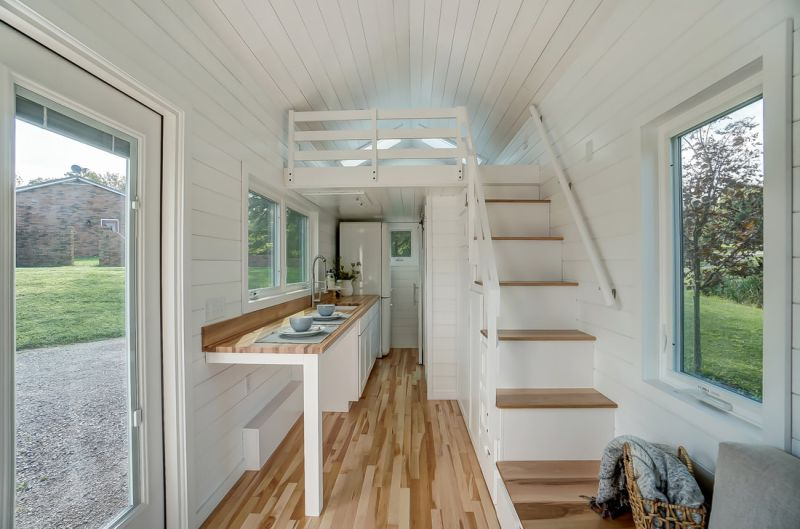 Modern Tiny Living Custom Builds 22-Ft Tiny House on Wheels for Rogier