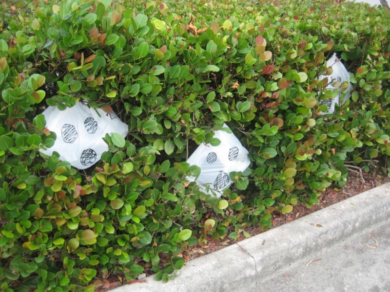 Recycled plastic bag Halloween ghost