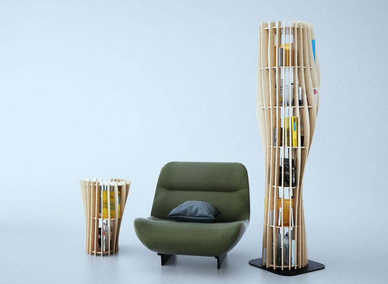 Rouah 200 Bookshelf by Alexandre Boucher is Ideal for Small Spaces
