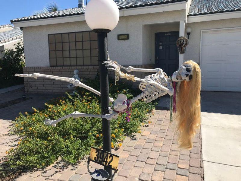 Skeleton stripper in your yard